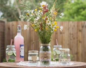 Rustic Jars  - Made to Order - Set of 5