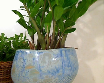 """3-legged Decorative Ceramic Art Houseplant Container - Suitable for 5"""" - 6"""" round potted houseplants"""