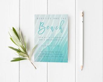 Beach Bachelorette Party Printable Invitation/Beach Bachelorette Party invitation/Printable Bachelorette Invitation/Beach Bachelorette Party