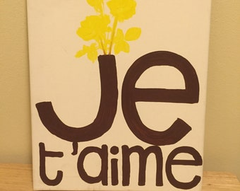 je t'aime canvas