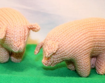 Pig - hand knitted pure wool