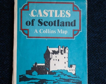 CASTLES OF SCOTLAND Vintage Map