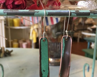 Salvaged Copper Earrings