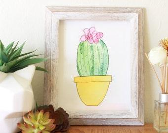 Cactus Water Color Print