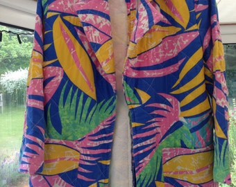 Tropical handmade vintage jacket