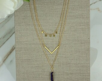 Triple Strand Trendy Necklace