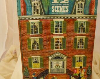 1967 Hallmark Calendar Nostalgic Early American Scenes Ill. by Robert G Schneeberg  (265)