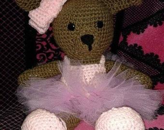 Crocheted Amigurumi Ballerina Bunny