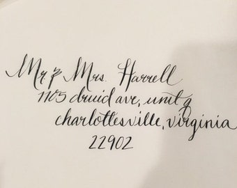 Modern Calligraphy Addressed Envelopes-Weddings/Invites/Showers/Parties