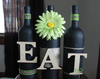 Wine Bottle Letter Set- EAT