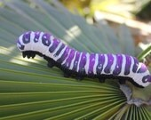 Realistic Caterpillar, Polymer Clay Caterpillar, Giant Caterpillar, Fairy Garden Creature, Fairy Garden Caterpillar, Garden Decor