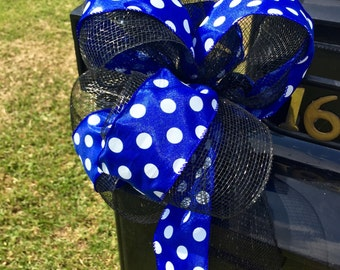 Black and Blue Mailbox Topper