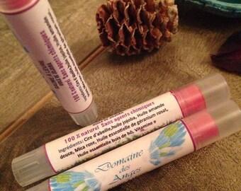 Lip balm, organic, moisturizing, pink, colour