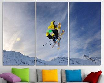 Winter Sports Ski Wall Art Ski Poster Canvas Art Ski Print Winter Sports Photo Canvas Print Ski Canvas Ski Art Wall Decor Large Wall Art