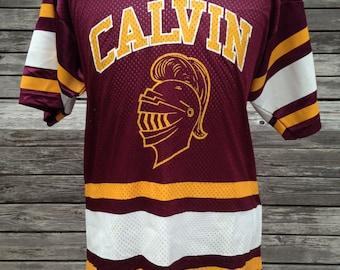 Vintage 90s CALVIN COLLEGE KNIGHTS jersey - small / medium - Grand Rapids Michigan