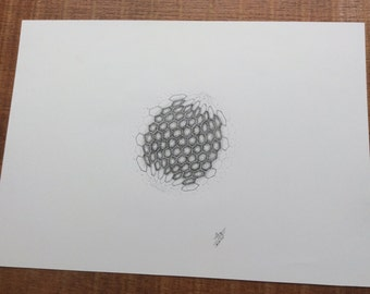 Dotwork Honey Comb