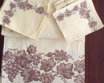 Vintage Cotton Tablecloth