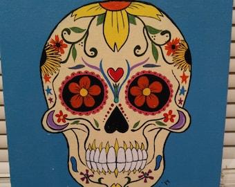 Dia de Los Muertos Sugar Skull Painting