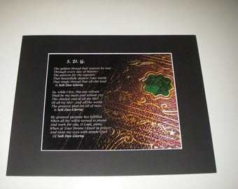 Matted Print of S.D.G. Poem