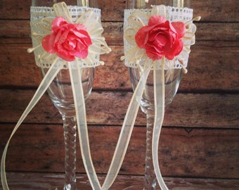 Wedding Champagne Glasses Toasting Flutes
