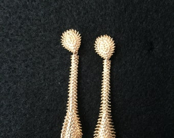 Dewdrop Gold Plated Earrings