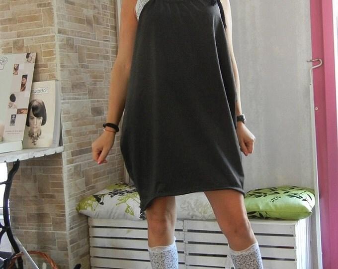 Black Robe Loose pinafore / Loose Flattering  Oversized Cool pinafore dress / Sexy Black Pinafore Dress / Clubwear / Party Dress