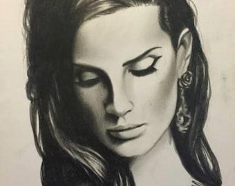 Lana Del Rey portrait a4 (print)