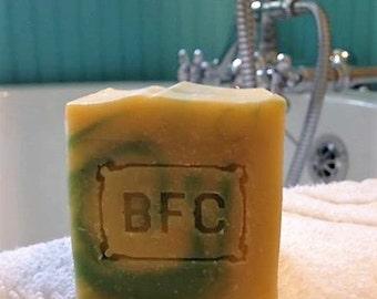 Happy Camper - Handcrafted Natural Artisanal Soap (Lemon Eucalyptus Soap, Cold Process Soap, Natural Soap, Handcrafted Soap)