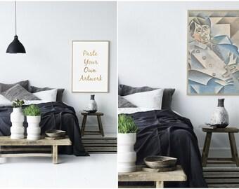 Frame Mockup, Poster Mockup, Frame Poster Mockup, Styled Frame Poster Mockup, Modern Frame, Styled Photography Mockup, Digital Poster Frame