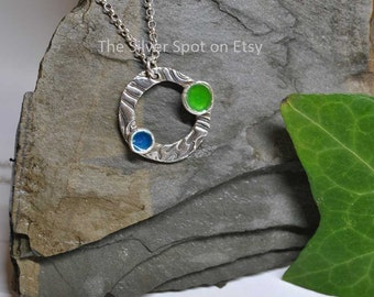 The Hills and Sea Fine Silver Necklace
