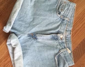 High Waisted Denim Shorts, Vintage