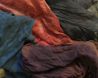 Plant Dyed Cheesecloth