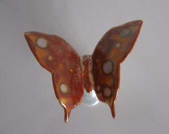 Beautiful handpainted Lustre butterfly