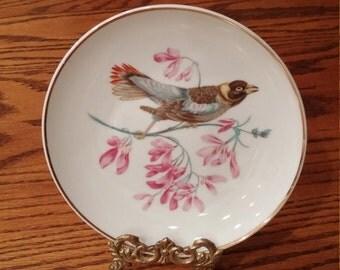 Elegant Vintage Lipper Mann Creations Bird Plate - Decorative Plate - Wall Decor