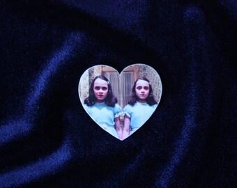 The Shining Brooch, The Shining Twins, Halloween Brooch