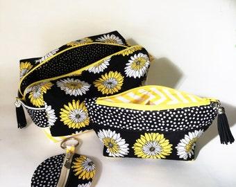 BumbleBag Set - Yellow & Black Daisies