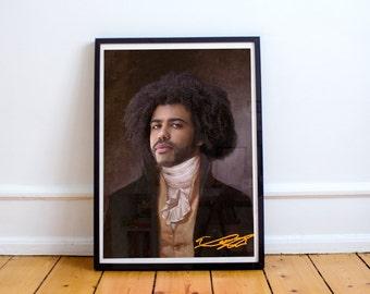 Thomas Jefferson (Daveed Diggs) Classic Painting Photoshop Poster 5x7 8x10 12x16 13x19 18 x 24