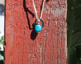 Blue washer necklace