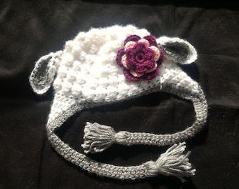 Lamb Hat, Newborn Sheep Hat, Newborn Hat, Baby Hat, Baby Animal Hat, Sheep Hat, Baby Sheep Hat, Newborn Lamb Hat, Crochet Baby Hat, Girl Hat