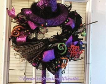 Trick or Treat Witch Wreath