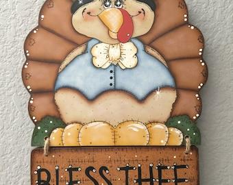 Thanksgiving, Turkey, Holiday Decor, Tole Painting, Decorative Wood
