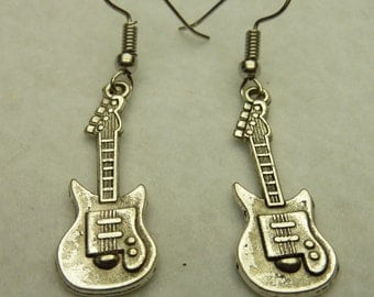 Earrings guitar