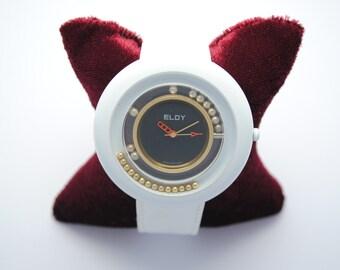 ELDY bracelet White Leather watch