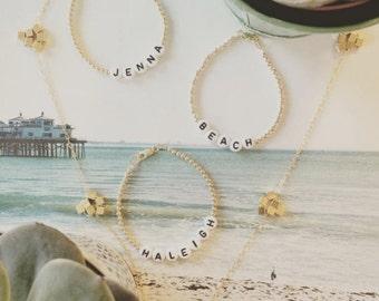 Handmade Jewelry Bracelet, Personalized Bracelet, Beaded Initial Bracelet, Handmade Bracelet, Personalized Name Jewelry, Custom Name Gifts