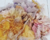 Soft Gorgeous Uncarded Cormo Wool - Hand Dyed - Daydream - 2.2 ounces