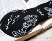 Book Weight - Women in Kimonos with Parasols and Platform Shoes - Black and Off-white
