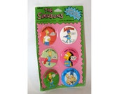 Vintage 1990 Simpsons Button Collection Factory Sealed Set of 6