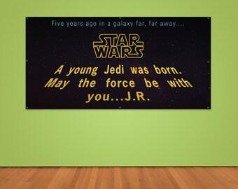 Custom Star Wars Birthday Banner (2ft x 4ft Vinyl Banner)