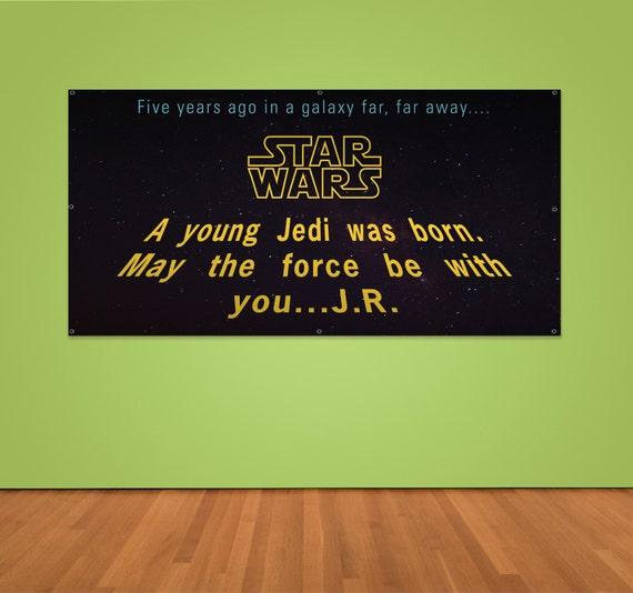 Custom Star Wars Birthday Banner 2ft X 4ft Vinyl Banner