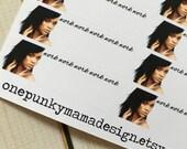 Rihanna Work Schedule Stickers for Erin Condren (ID503)